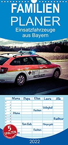 Einsatzfahrzeuge aus Bayern - Familienplaner hoch (Wandkalender 2022, 21 cm x 45 cm, hoch)