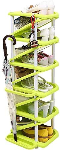 Rack per scarpe Multi-strato Plastica Plastica Rack per scarpe Home Multi-funzione Scarpe da scarpe a forma di Z Cabina di scarpe Home Robusto ed elegante per le scarpe Lunghezza dell'organizzazione 2