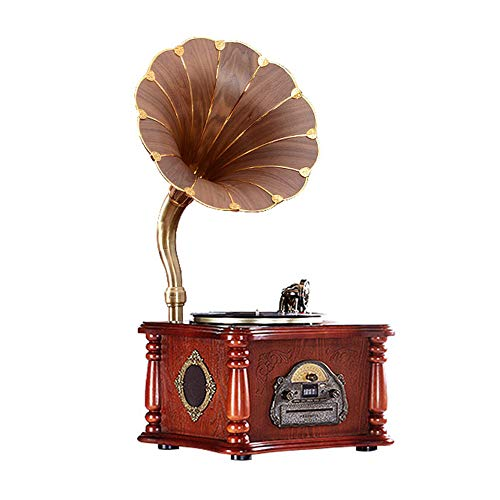 Why Should You Buy LVSSY-Gramophone Retro Stereo 33 45 78 RPM LP Vinyl Record Player Living Room Aud...
