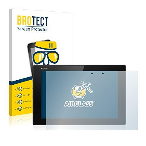 BROTECT Panzerglas Schutzfolie kompatibel mit Sony Xperia Z2 Tablet - AirGlass, 9H Härte, Anti-Fingerprint, HD-Clear