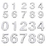PandaHall 20 números autoadhesivos para puerta de casa, números de buzón, números de dirección callejera para apartamento, hogar, habitación, número 0 ~ 9 (5 cm, 6,9 cm)