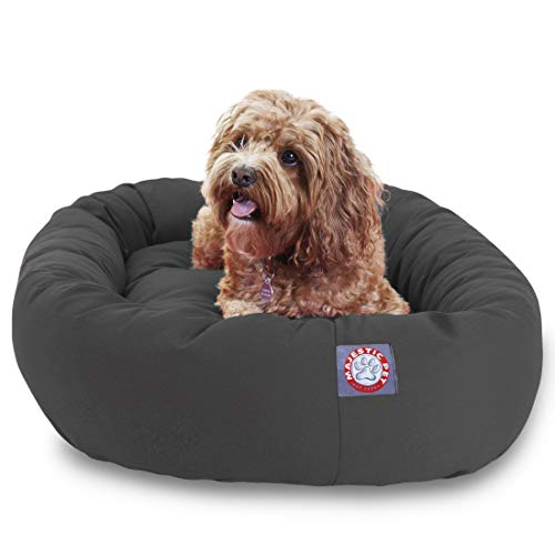 Majestic Pet 32' Gray Bagel Dog Bed
