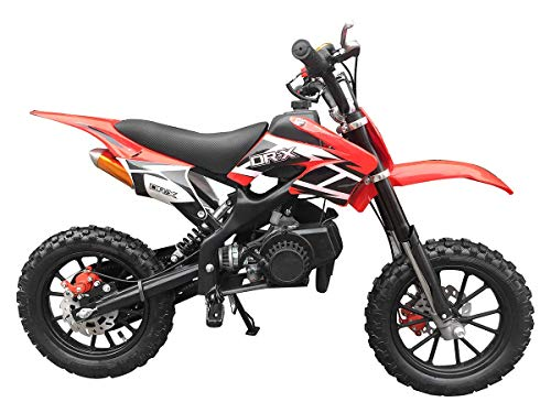 SYX MOTO Kids Mini Dirt Bike Gas Power 2-Stroke 50cc Motorcycle Holeshot Off Road Motorcycle Holeshot Pit Bike, Fully Automatic Transmission, Red (Used Honda 80cc Dirt Bike For Sale)