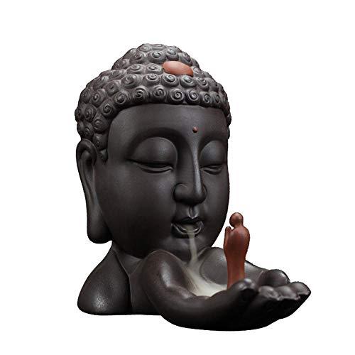 Quemador de incienso de Buda con 10 conos de incienso de ref