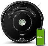 iRobot Roomba 671 Robot aspirapolvere WiFi, Adatto a tappeti e Pavimenti, Tecnologia Dirt Detect, Sistema 3 Fasi, 58 dB, Pulizia programmabile, Grazie alla App, Compatibile con Alexa, Nero, 33w
