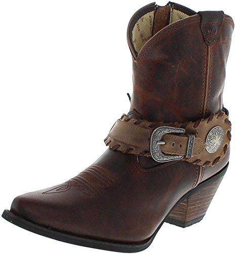 Durango Boots DCRD173 SPUR Strap Brown Lederstiefelette für Damen Braun Westernstiefelette, Groesse:38.5 (7 US)