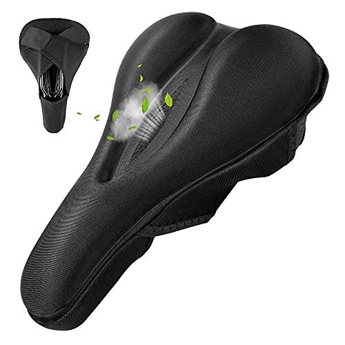 Bike Seat Cover-Extra Soft Gel Bicycle Seat Cushion - Bike Saddle Cushion for Men & Women Comfort