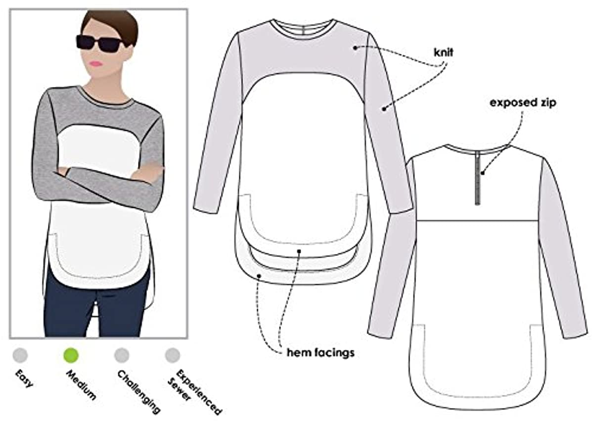Style Arc Sewing Pattern - Avery Tunic Top (Sizes 04-16) - Click for Other Sizes Available