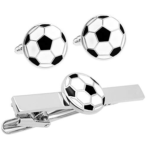 サッカーボール カフス & タイピン セット (カフスボタン ネクタイピン) n01903
