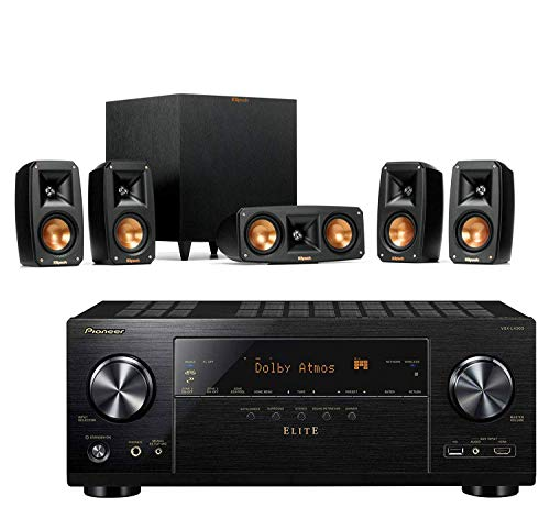 Klipsch Reference Theater Pack 5.1 Surround Sound System Bundle with Pioneer VSX-LX303...