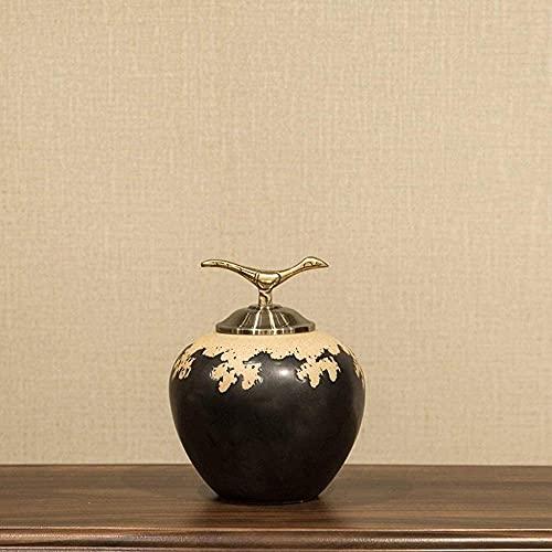 QI-Shanping Escultura de cerámica Grande Decoración Entrada Sala de exposición Soporte para TV Artesanía Creativa Decoración Suave para el hogar Adornos (Tamaño: C)-UN