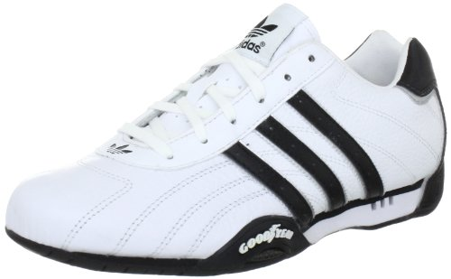 adidas Adi Racer Low - Zapatillas de charol para hombre, Blanco (White / Metallic Silver / Black), 41 1/3