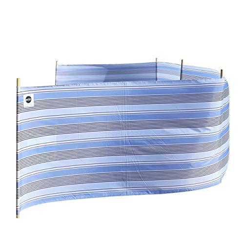 erda Surf Stripe Beach Lightweight 20 ft Beach Windscreen, Privacy Screen, Wind Blocker, Free Matching Shoulder Bag