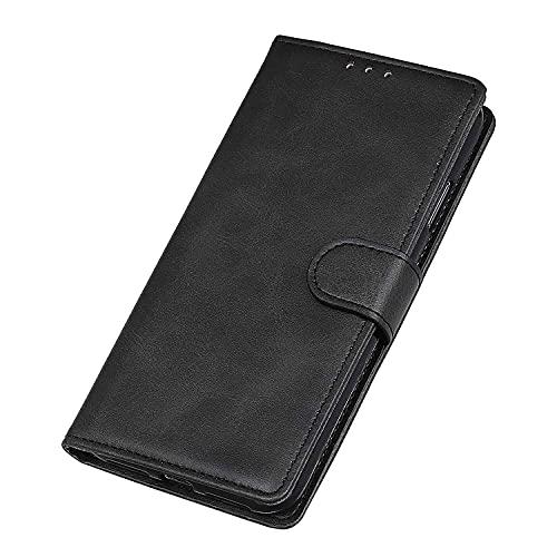 WEIOU Leather Folio Cover per ZTE Blade A51, Custodia in Pelle PU Magnetica Libro Flip Portafoglio con [Funzione Stand]. Nero