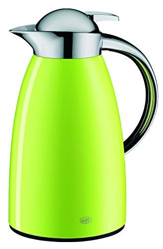 alfi Signo, Thermoskanne Metall grün 1L, mit alfiDur Glaseinsatz, 1421.278.100, Isolierkanne hält 12 Stunden heiß, ideal als Kaffeekanne oder Teekanne, Kanne für 8 Tassen