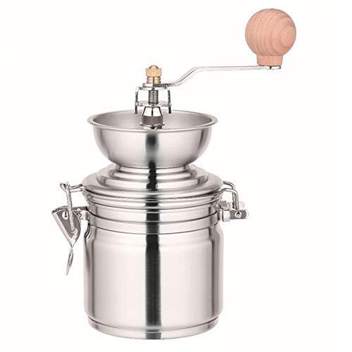 A&F Handmatige Koffiemolen Draagbare Mini Burr Assemblyfor Reizen voor Koffiebonen/Specerijen/Theebladeren/Camping