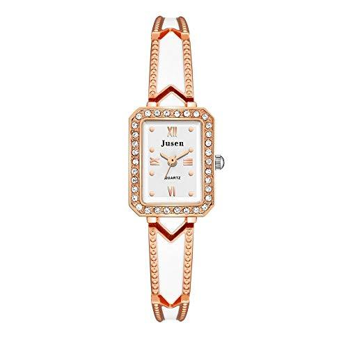Großes Zifferblatt Paar Uhr Damen Armbanduhr rechteckigen Edelstahl Quarzuhr Qualität einfache Damenuhr weibliche Kettenuhr automatisches Armband Lederarmband