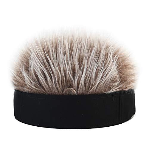 Inicio Neuheit Flair Hair Visor Sun Cap Perücke erreichte einstellbare Baseball-Mütze mit gefälschten Haaren