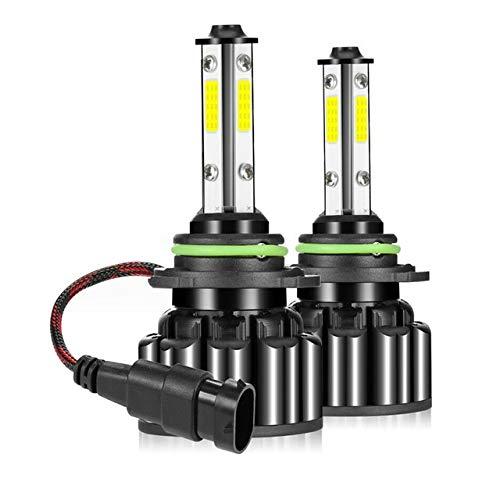 MCYAW 2pcs 4-Side Coche LED Faro 9005 9145 HB3 Kit de Luces de Niebla 100W 20000LM Lámparas LED/Bombillas para automóviles High/Beon Beam 6000k Blanco (Emitting Color : A, Socket Type : 9005/HB3)