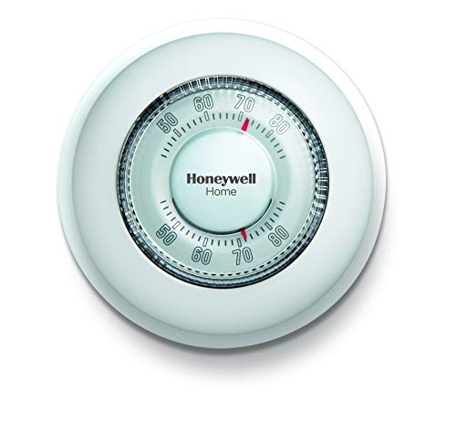 Honeywell Home CT87K1004 The Round Heat Only Manual Thermostat,Large,White,Large