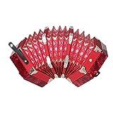 Acordeón Profesional Concertina Acordeón Instrumento Musical Rendimiento Junior para Rojo Adulto