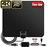 TV Aerial, 2019 Newest Indoor TV Aerial for Digital Freeview 4K 1080P HD