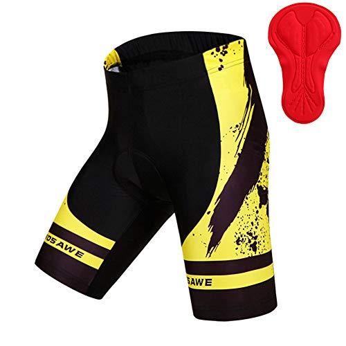 YOJOLO Culotes Ciclismo Hombres Acolchados Pantalones Cortos De Bicicleta Transpirables De Secado...