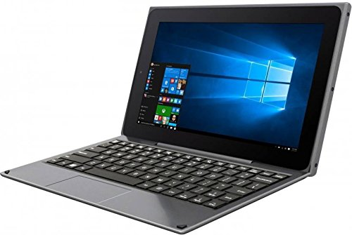 Venturer BravoWin 10K 10.1-inch 2 in 1 Touchscreen Detachable Laptop|Tablet (Atom Z3735F/2GB/32GB/Windows 10/Pre Installed Lifetime MS Office/HDMI), Black