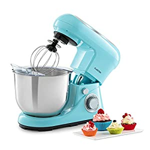 Klarstein Bella Pico 2G Food Processor Mixer – 1200 Watts / 1.6 Horsepower in 6 Power Levels with Pulse Function, Planetary Mixing System, 5-Litre Stainless Steel Bowl, 3-Piece Accessories