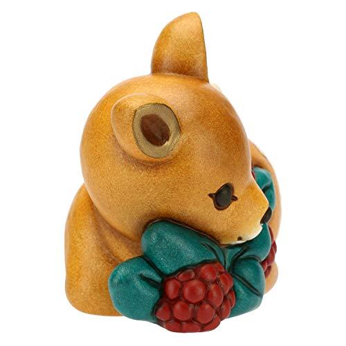 THUN ® - Cerbiatto Piccolo con Bacche - Ceramica - h 7,4 cm - Linea I Classici