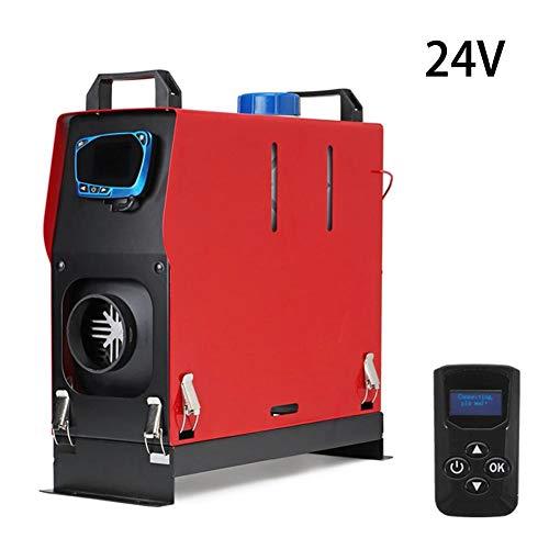 abiet - Calefacción de estacionamiento, diésel, 12 V/24 V, 5000 W, Interruptor LCD, para Coche, diésel, calefacción, Llave LCD + silenciador para RV, Caravana, camión, Barco