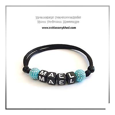 Bracelet MAEL personnalisé avec prénom (réversible) homme, femme, enfant, bébé, nouveau,né.