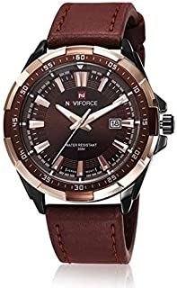 Naviforce Casual Watch For Men Analog Leather - NF9056M