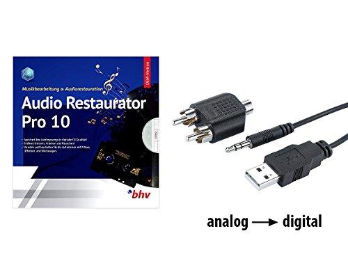 Q-Sonic Phono Vorverstärker: Audio-Digitalisierer & MP3-Recorder mit Restaurator-Software (USB Audio Digitalisierer)