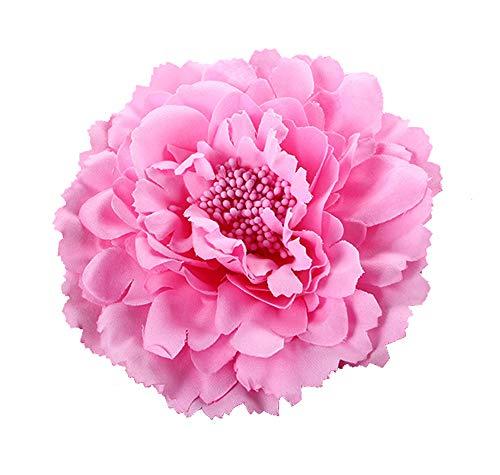 Cheerlife 2 Stück Frauen Baby Mädchen Kinder Blumen Ansteckblume Haarblume Haarspangen Set Schleife Haarschmuck Pfingstrose Pink