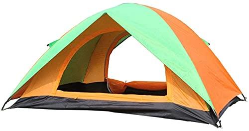 SHWYSHOP Carpas para Acampar Carpa para Exterior Carpa Doble Carpa para Acampar Doble a Prueba de Lluvia para Pesca con Mochila (Color: Verde, Tamaño: