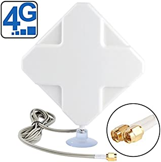 Miss flora Wifi antenna .High Quality Indoor 35dBi SMA Male 4G Antenna, Cable Length: 2m, Size: 22cm x 19cm x 2.1cm