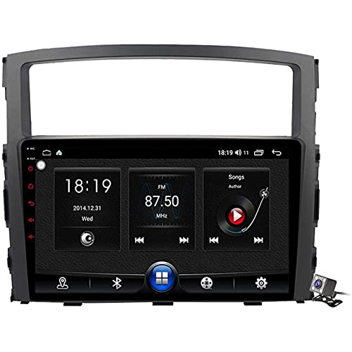 9 pulgadas pantalla táctil Autoradio Android 10 MP5 reproductor GPS navegación para Mitsubishi Pajero 4 2006-2014, soporte WiFi 5G DSP/FM RDS estéreo/control del volante/Carplay (7862: 4G+WIFI: 4+64G)