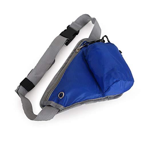 Universal Kettle Waist Bag Bolsa de Viaje Ligera Bolsa de Dinero de Seguridad compacta Cinturón de Cintura para Correr al Aire Libre-Azul
