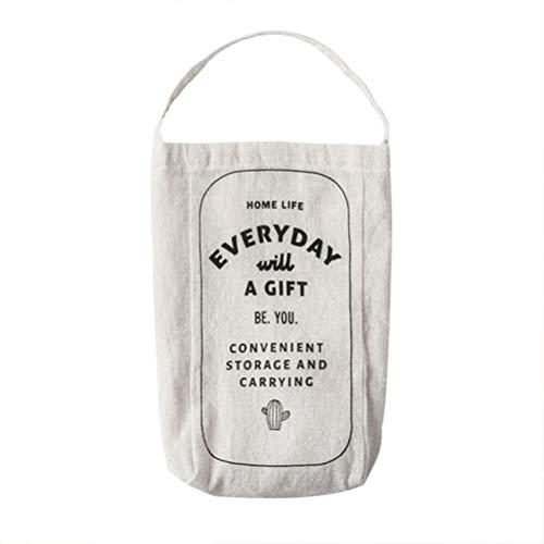 Bestice - Bolsa de plástico para bolsas de comestibles, dispensador para colgar bolsa de almacenamiento de basura organizador para suministros de viaje de cocina