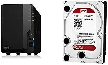 Synology 2 Bay NAS DiskStation DS218+ with WD Red 2TB NAS HDD Bundle