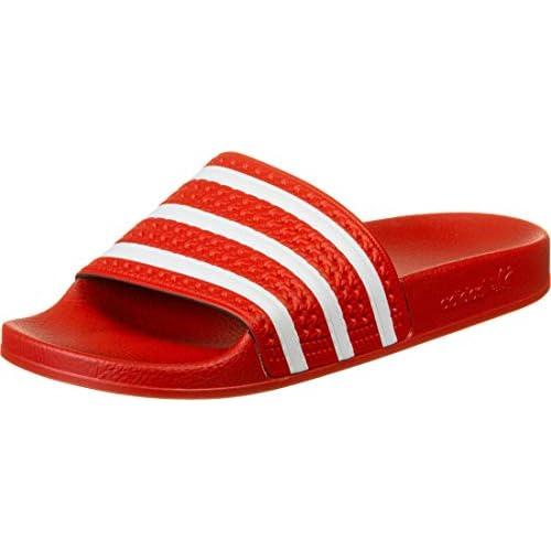 adidas Adilette, Ciabatte Uomo, Rosso (Lush Red/Ftwr White/Lush Red), 44 2/3 EU