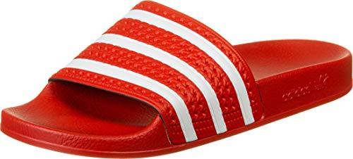 adidas Herren Adilette Flip Flops, Rot (Lush Red Footwear White Lush Red), 38 EU