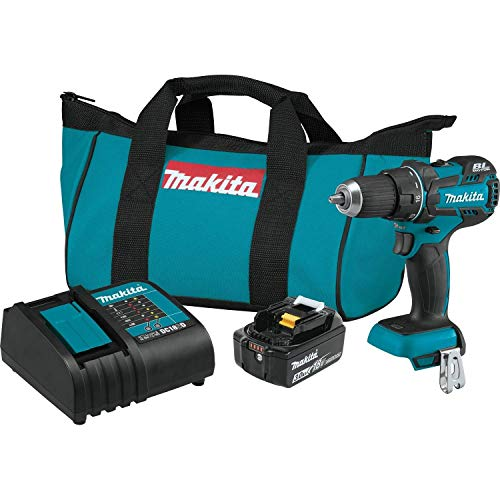 Makita XFD061 18V LXT Lithium-Ion COMPACT Brushless Cordless 1/2' Driver-Drill Kit (3.0Ah) (Renewed)