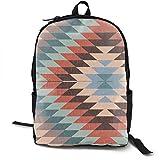 DJNGN Mochila Informal Mochila Escolar Mochila de Viaje Classic Backpack,Kilim in Autumn Casual School Bag Large Capacity Novelty Laptop Bag for Teens Women Men Travel Hiking