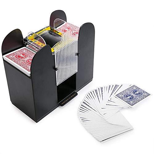 Juego de naipes automático barajador de cartas Barajador de cartas, profesional, alta velocidad, barajador de cartas con batería, barajadora electrónica de cartas de póker