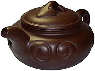Teapot 20oz Yixing Zisha tea pots Natural auspicious luck (brown)