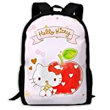 wobuzhidaoshamingzi Mochila Informal Hello Kitty Print Zipper School Bag Mochila...