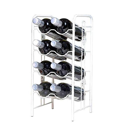 CESULIS Soporte de almacenamiento para bar, sótano, bodega, cocina, comedor, etc. (color: blanco, tamaño: 22 x 23 x 48 cm)