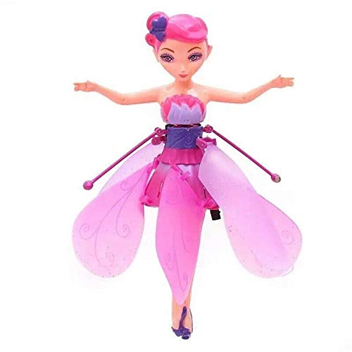 YFASJ Flying Fairy Girls Toy Doll,Infrared Induction Control Toys,Child Toy Flying Princess Doll Flying Fairy Toys for Girls (Pink)